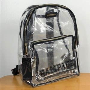 Rampage Bags - Rampage 🌟 Clear Glitter Varsity Logo Backpack NWT